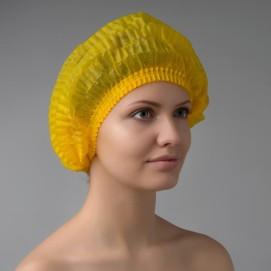 Шапочка-шарлотка одноразовая (желтая)