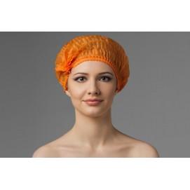 Шапочка-шарлотка одноразовая (оранжевая)